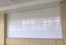 4.2m W x 1.45m H<br> Seamless magnetic dry erase whiteboards