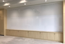 5.3m W x 1.45m H<br> Seamless magnetic dry erase whiteboards