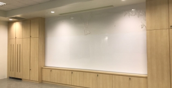 4.2m W x 1.45m H Seamless magnetic<br> dry erase whiteboards