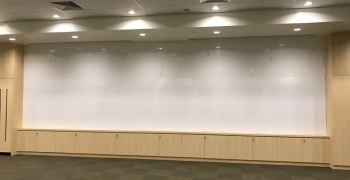 8m long magnetic whiteboard