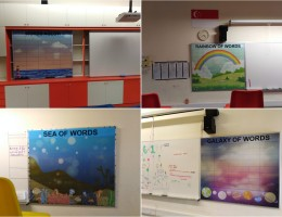 Conversion of Notice Board into Magnetic<br /> Whiteboard with print at Primary School