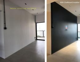 Full wall magnetic chalkboard 06