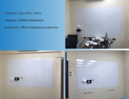 GDMAG whiteboard - 3 pcs 200 x 120cm
