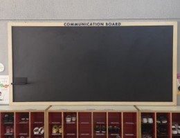 Gdmag Magnetic Chalkboard system<br /> at Childcare Centre