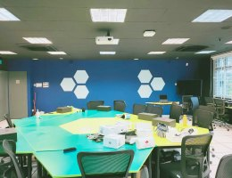 Hexagon shape GDMag matte Magnetic Whiteboard