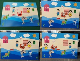 Magnetic Story Telling Board With Magnetic<br /> Printed Die Cuts for Secondary School