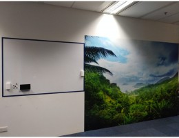 Magnetic wall art, 3.3m x 2.4m + magnetic <br/>whiteboard 1.75m x 1.2mH