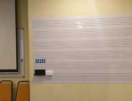 Magnetic Whiteboard with Music Scoreline