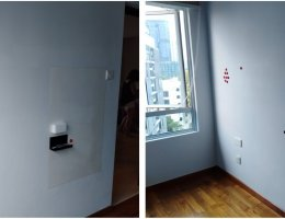 Premium magnetic whiteboard + magnetic<br /> wall @ residential