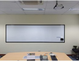 Premium Magnetic Whiteboard system with<br /> frames 4mx1.2m
