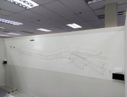 Printed Magnetic Whiteboard At Office