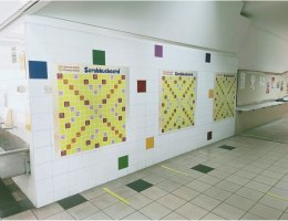 VM Magnetic Scrabble Board at Primary School
