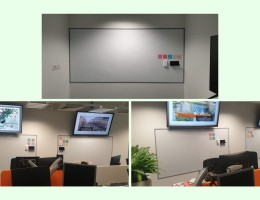 Visual Magnetic Whiteboard With Frames<br /> At Local Bank
