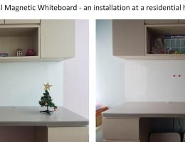 Visual Magnetic Whiteboard - installation<br /> at residential home