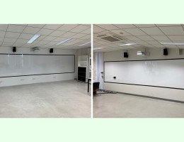 Visual Magnetic Whiteboard with Frames.<br /> 1.5x 6.3m and 1.5mx 8.4m