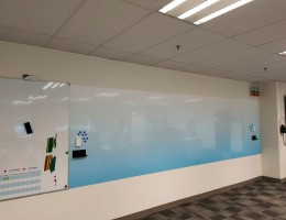 Visual Magnetic printed whiteboard<br /> 5.5m(L) x 1.5m(H)