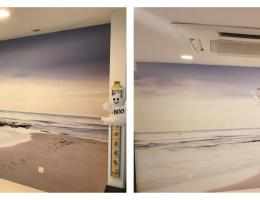 Visual Magnetic wallpaper graphic<br /> system at a residential home
