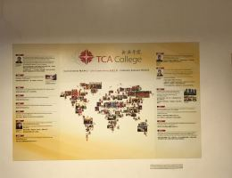 Customised Magnetic Wall Display<br /> at TCA College