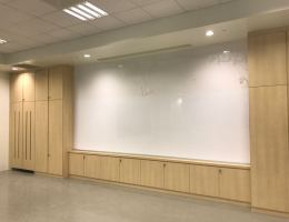 4.2m x 1.45m Magnetic dry erase whiteboard