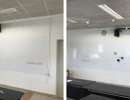 Bespoke visual magnetic whiteboards<br /> for High School