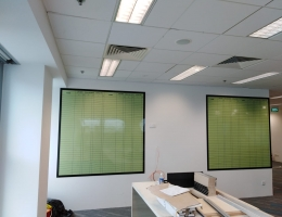 Basic Magnetic Printed Whiteboard with<br> frame 1.8mx1.8m