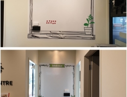 Bespoke Visual Magnetics Whiteboard at<br> Education Centre