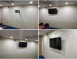 Full length coloured magnetic whiteboard