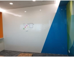 Magnetic Color White Board wall to wall<br> for MNC customer