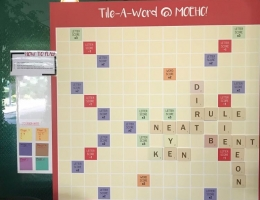 Magnetic Scrabble Board at MOE<br> Heritage Centre