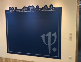 Magnetic wall art @ club office, 2.4mx2m
