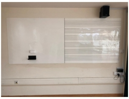Magnetic whiteboard with music scoreline<br> for School