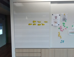 Magnetic whiteboard with music scoreline. <br>Total 10 boards