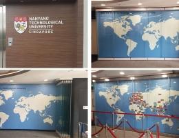 NTU Global Lounge - 11.9 m sq Visual<br> Magnetics Premium Series Mural Wall system