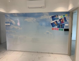 Printed Magnetic Whiteboard for Home