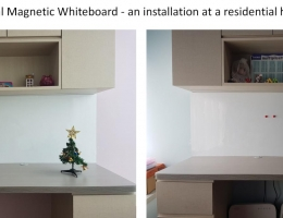 Visual Magnetic Whiteboard - installation<br> at residential home