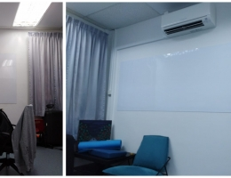 Visual Magnetic whiteboard at Community <br>Centre