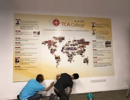 Customised Magnetic Wall Display<br> at TCA College