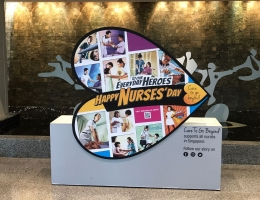 Year 2 of Nurses day rolving magnetic display <br>at Raffles Hospital