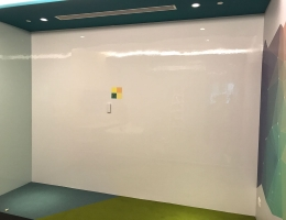 See our customized wall to wall <br>magnetic whiteboard installed at Daimler