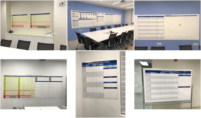 Magnetic whiteboards @ Pharmaceutical Company