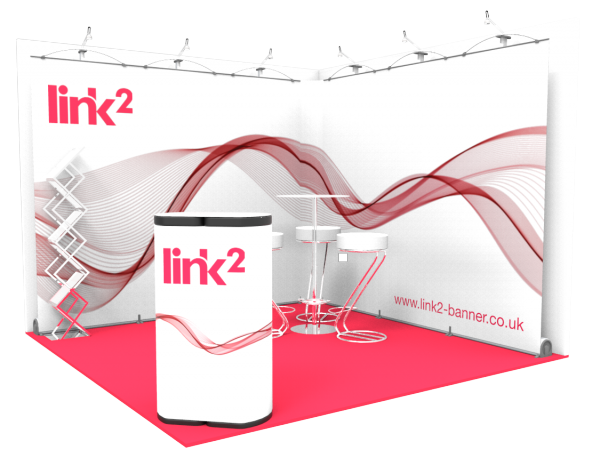 Link2 3m x 3m Exhibition Stand